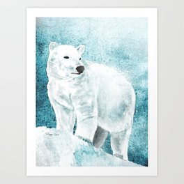 The White Bear Art Print