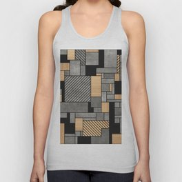 Random Pattern - Concrete and Wood Unisex Tank Top