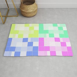 funky colorful squares Rug