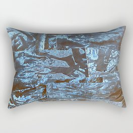 Negative-Style Abstract Pattern Rectangular Pillow