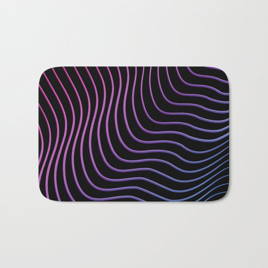 Neon Waves Bath Mat