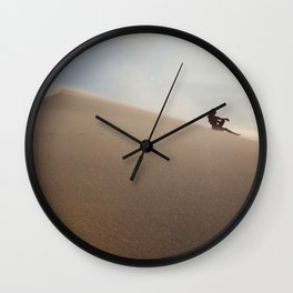 Sunset at Eureka Sand Dunes Wall Clock