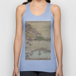Map Of The Caribbean 1828 Unisex Tank Top