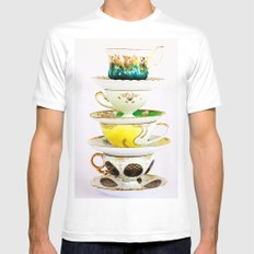Tip Top TeaCup MEDIUM White Mens Fitted Tee