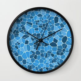 Stained glass colorful voronoi with fillet, vector abstract. Irregular cells background pattern. 2D Wall Clock
