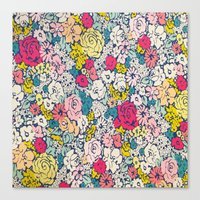 vintage flowers Canvas Prints featuring Vintage flowers by Love2Snap