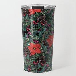 Christmas Floral pattern Travel Mug