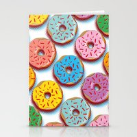 donuts Stationery Cards featuring Donuts by Helene Michau