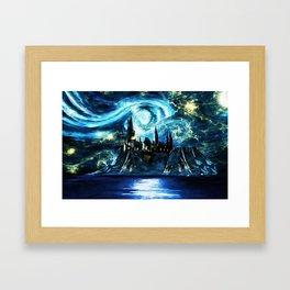 Starry Night Hogwarts Framed Art Print