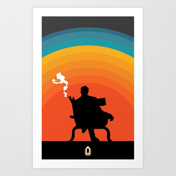 The illusive man Art Print