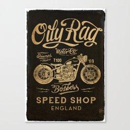 Oily Rag Motor Co Canvas Print