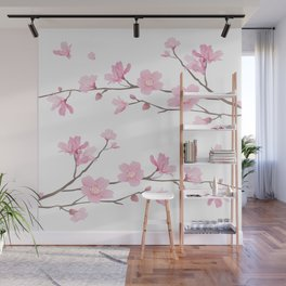 Square- Cherry Blossom - Transparent Background Wall Mural