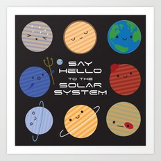 Say Hello to the Solar System Art Print