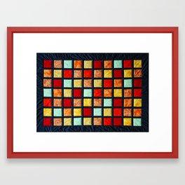 patchwork 001 Framed Art Print