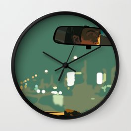 Drive movie poster Wall Clock