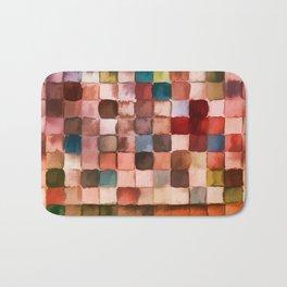 Colorful gift - Geometric watercolor Bath Mat