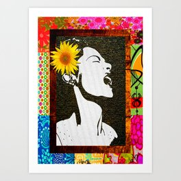 Lady Day in floral Art Print