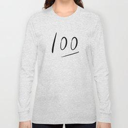 100 typography Long Sleeve T-shirt
