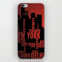 cities iPhone & iPod Skins featuring Cities by Colin Webber