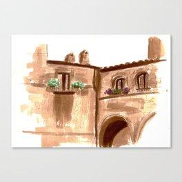 Viterbo Windows - 5 Canvas Print