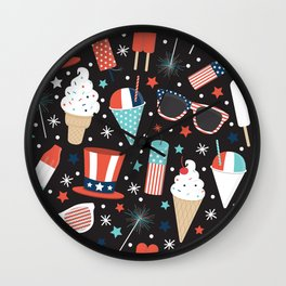 American Summer Wall Clock