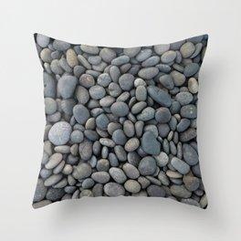 Gray pebbles Throw Pillow