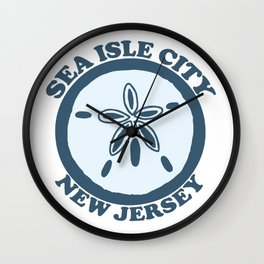 Sea Isle City - New Jersey. Wall Clock