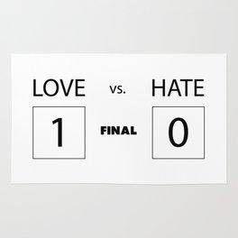 Love vs. Hate Rug