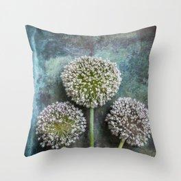 Three Allium Flowers Throw Pillow