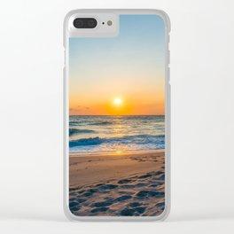 Canaveral National Seashore Sunrise Clear iPhone Case