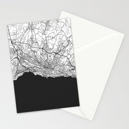 Lausanne Map Gray Stationery Cards