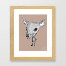 NORDIC ANIMAL - DEDE THE DEER  / ORIGINAL DANISH DESIGN bykazandholly  Framed Art Print