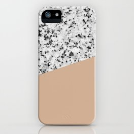 Granite and Hazelnut Color iPhone Case
