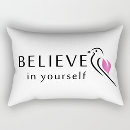 Believe in yourself- little sparrow having faith in its wings Rectangular Pillow