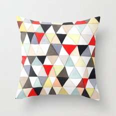Geometric Pattern Watercolor & Pencil Robayre Throw Pillow