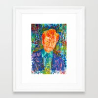 conan Framed Art Prints featuring Conan O'Brien by Abby Lauren Edwards
