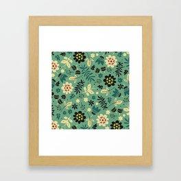 As flores do seu jardim Framed Art Print