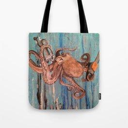 Armed Octopus Tote Bag