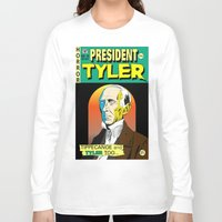 tyler spangler Long Sleeve T-shirts featuring John Tyler by @DrunkSatanRobot