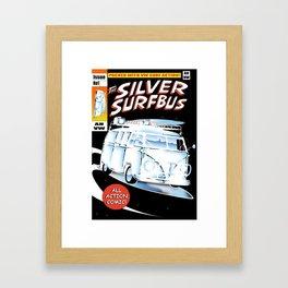 Silver Surfbus Framed Art Print