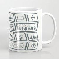 camping Mugs featuring Camping by Corina Rivera Designs