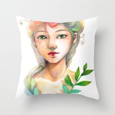 Goddess of  Spring Throw Pillow