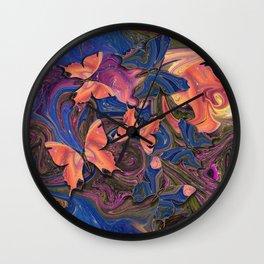 Butterflies Marble Paradise #2 Wall Clock