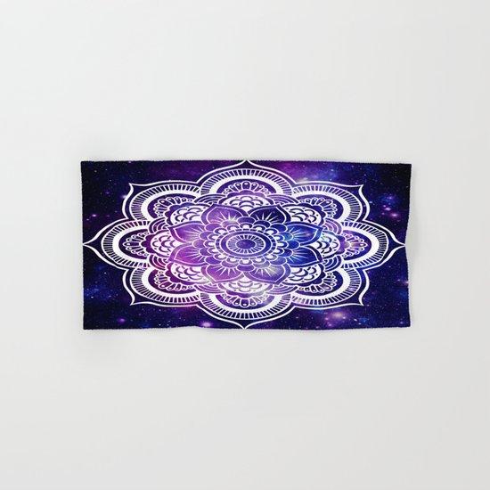 Mandala purple blue galaxy space Hand & Bath Towel