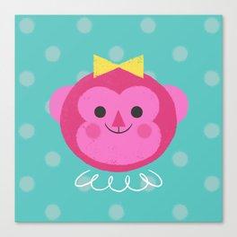 Dressy Monkey Canvas Print