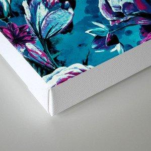 RPE FLORAL VIII BLUE Canvas Print