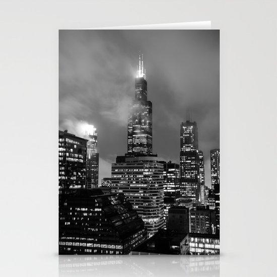 Foggy Chicago Night Stationery Cards