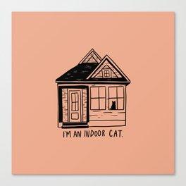 Indoor Cat (house) Canvas Print