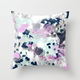 Berti - abstract minimal trendy color palette hipster home decor Throw Pillow