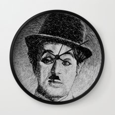 Chaplin portrait - Fingerprint Wall Clock